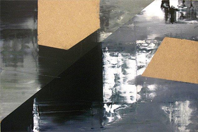 'Illusion møder virkelighed III', akryl på MDF-plade. Foto Lars Svanholm
