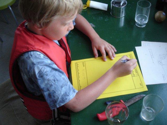 Vandcykelrapporten udfyldes omhyggeligt. Foto: Parfyme