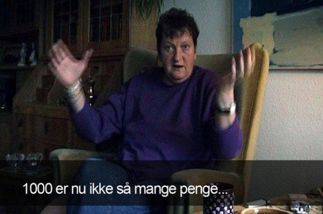 Sonja Lillebæk Christensen: Frigjort - min mor (2002), videostill.