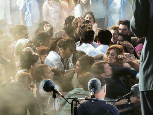 Opgørets time i Herodion-teatret i Athen.  Still fra The Rape of the Sabine Women. Foto: Daniel Teige