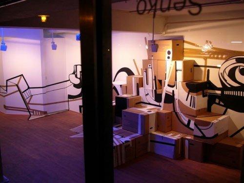 Part of the exhibition at Senko. Photo: Sergei Sviatchenko