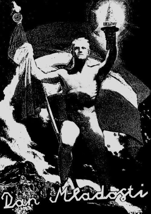 NSKs plakat til `Ungdommens dag´ ved siden af Kleins naziplakat fra 1936. Foto: Irwin.