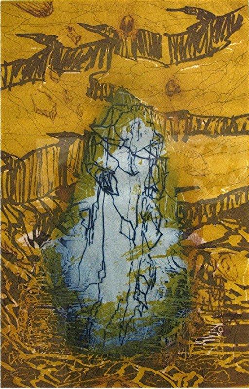 Per kirkeby: fire raderinger til Wittgenstein, blad 1, farveakvatinte, 1997. Foto: Lars Svanholm
