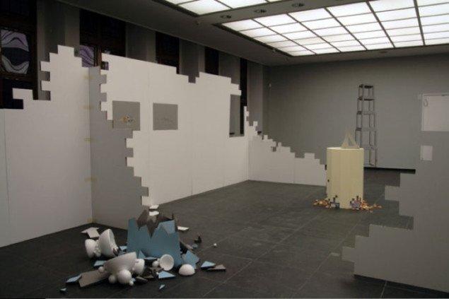 Tommy Støckel: Imaginary Worlds, Ist das Leben nicht schön?, (Collage. 40 x 50 cm.), 2006. Pressefoto