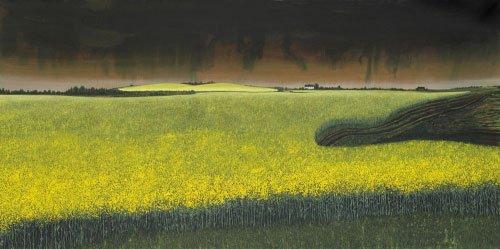 Søren Martinsen: Raps, 2007, Olie på lærred, 200 x 400 cm. Foto: SMK.