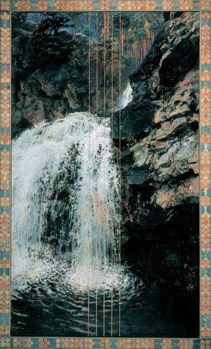 Akseli Gallén-Kallela: Vandfaldet ved Mäntykoski, 1892-94. Privat samling