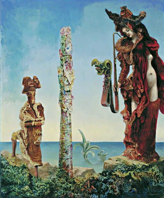 Under vandet over jorden.  Napoleon i vildmarken, Max Ernst, 1941, The Museum of Modern Art, New York. Pressefoto