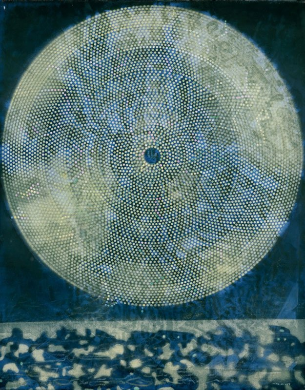 Et kaos af former bag en tilsyneladende orden.  En galakses fødsel,   Max Ernst, 1969, Beyeler Collection, Basel. Pressefoto