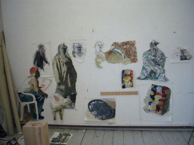 Nogle af de skitser, der senere er blevet en del af værket. Foto: Matthias Hvass Borello