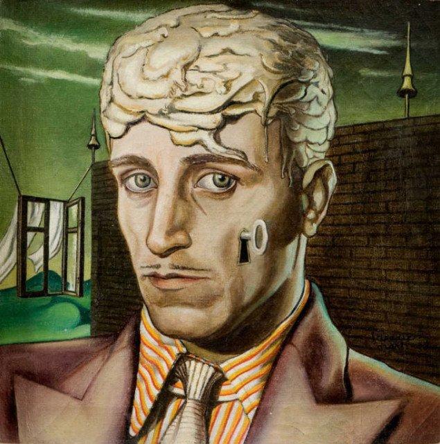 """Wilhelm Freddie ville """"låse op"""" for alt det fortrængte og mystiske i sindet. Selvportræt, Wilhelm Freddie, 1938, Foto: SMK Foto"""