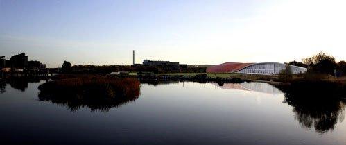 De naturskønne omgivelser bliver en stor del af museumsoplevelsen. Fotomanipulation fra 3xN.