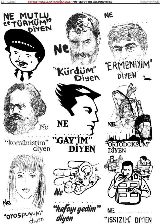 Extrastruggles Plakat for alle minoriteter.