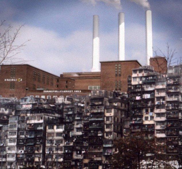 I Radiant Copenhagens nutid har de grønlandske hjælpearbejdere slået sig ned på Østerbro (Little Nuuk). Også ghettoer som på billedet er med tiden opstået. Foto: Radiant Copenhagen.