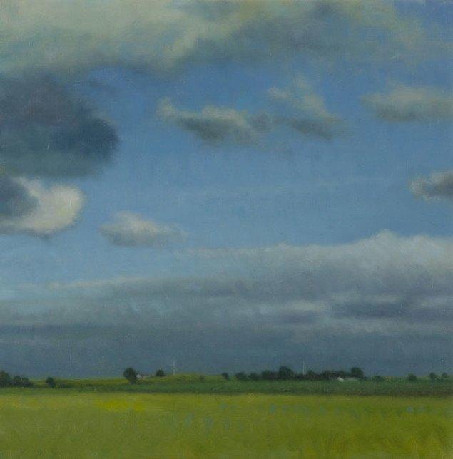 Ulrik Møller: Landskab og skyer, 2006. Foto: Anders Sune Berg