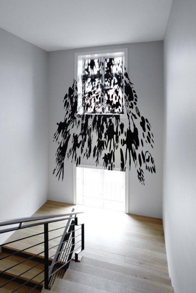 Regina Silveira: Tropel (Reversed), Kunstmuseet Køge Skitsesamling, 2009. Foto: Anders Sune Berg