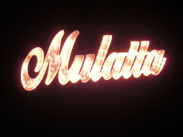 Yvette Mattern: Mulatta, 2007, Tekst baseret på lysskilt. Foto: Søren Martinsen