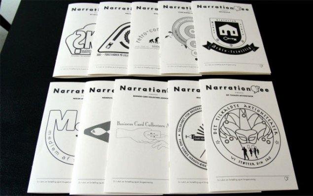 Materiale om de utrolige foreninger fra Narration Tee. Pressefoto