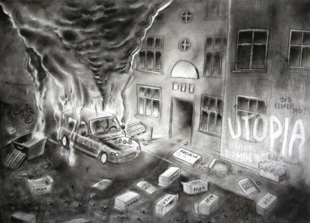 Uden titel (The Copenhagen Riots) 2009. Foto: SMK Foto