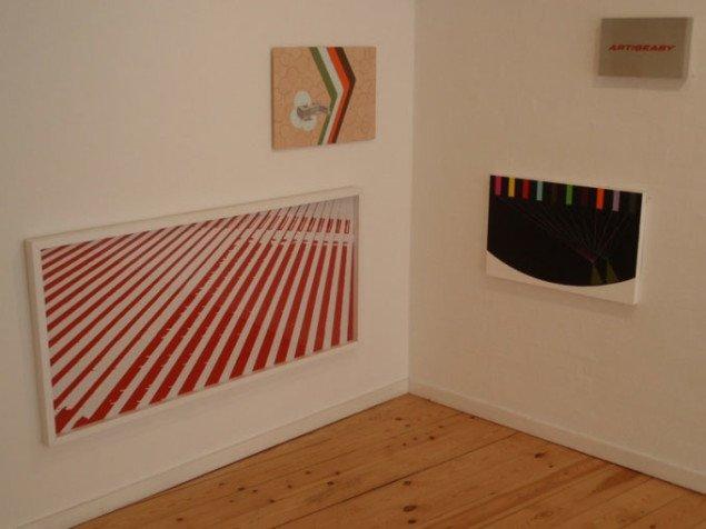 Ophængning. Mønstre i optisk samspil. Jes Wind Andersen, Signe Jaïs og Rasmus Lütken. Foto: Julie Rokkjær Birch