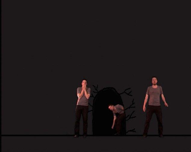Jacob Tækker: In and Out, 2007, på Co-Lab. Still fra værket.