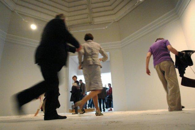 Berit Dröse: Billet, Gulv, Landskab, 2009, Mixed media installation, 2009. Pressefoto