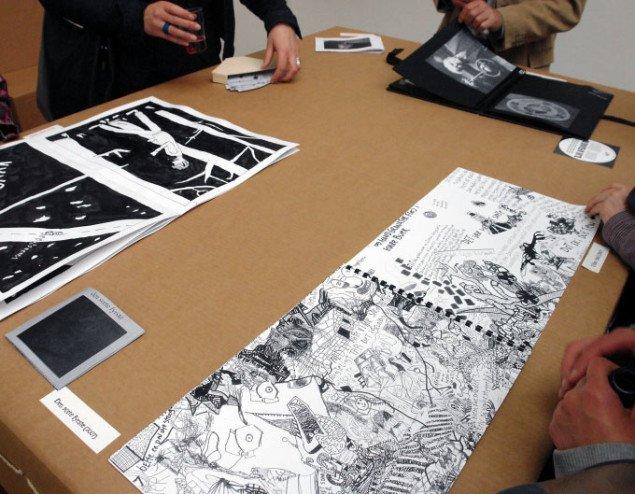 Jonas Palms anarkistiske tegneserie, hans pixibog, kaffefilterbog, billedbog og scrapbog. Pressefoto