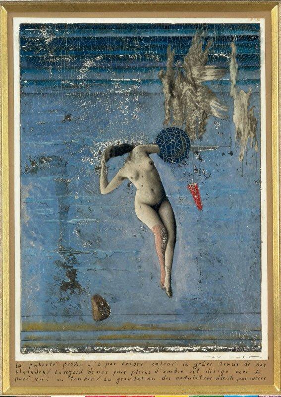 Surrealisterne udfordrede maleriet ved at omskabe og overmale eksisterende billeder. Den forestående pubertet ... (plejaderne), Max Ernst, 1921, Privateje, Courtesy Blondeau & Associés, Paris