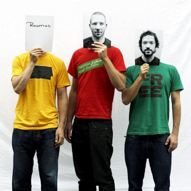 De tre medlemmer af Superflex: Bjõrnstjerne Christiansen, Jacob Fenger og Rasmus Nielsen. Foto: Superflex