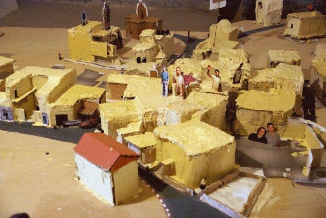 Minimodel af Birzeit. Foto: YNKB