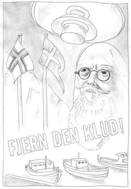 Kristina Ask: Fjern den klud, 2008. Det var Thorvald Staunings ord i 1930, da han så det færøske flag under et statsbesøg på Island. Gengivet bl.a. af det færøske pro-løsrivelses-punk band 200 i nummeret Fjern den klud.