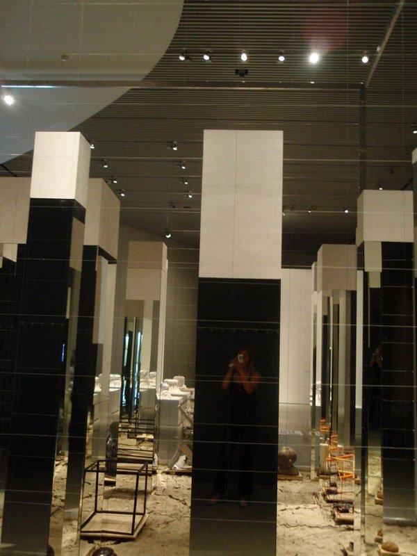 Bjørn Nørgaards reflekterende kube. Foto: Julie Rokkjær Birch