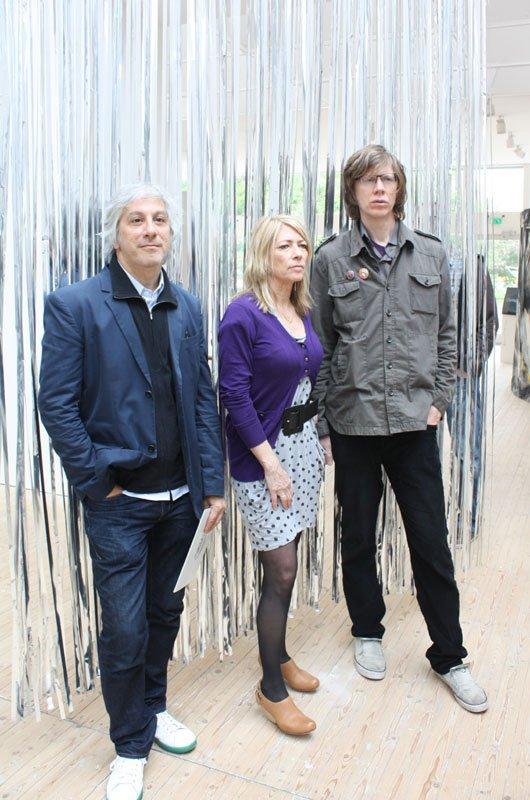 Sonic Youth i Malmö Konsthall: Lee Ranaldo, Kim Gordon og Thurston Moore. Foto: Tina Mariane Krogh Madsen