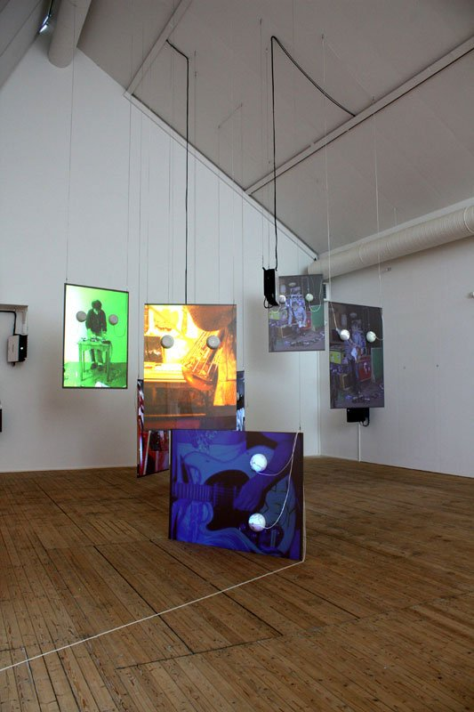 Tony Oursler: Sound Digressions in Seven Colors, 2007. Foto: Tina Mariane Krogh Madsen