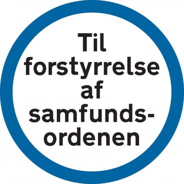 Jakob Jakobsens samfundsforstyrrende klistermærker. Et godt eksempel på noget af den kunst, som UKK vægter højt.