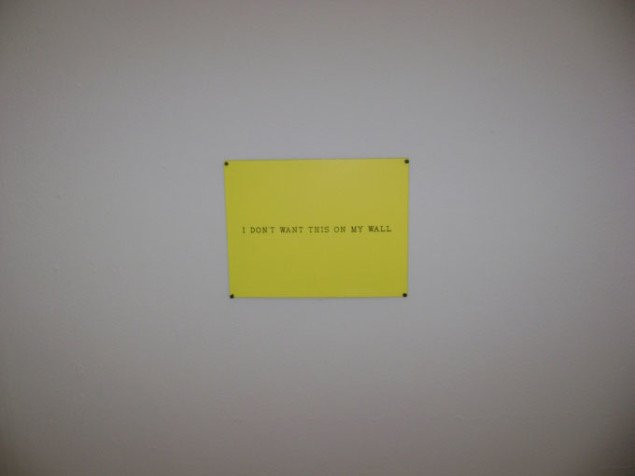 I don't want this on my wall, William Anastasi, Esbjerg Kunstmuseum. Foto: JRB