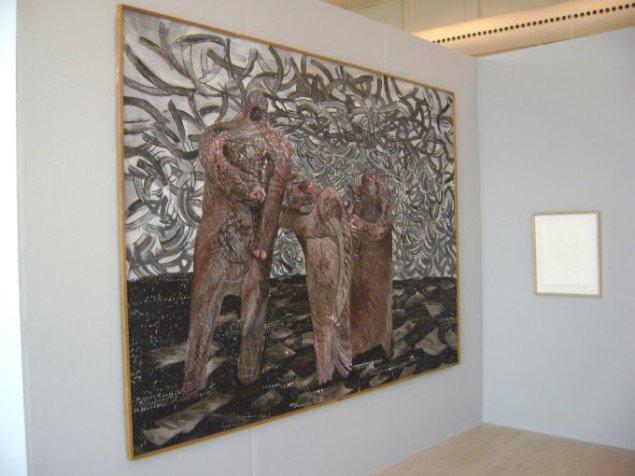 Her ses Anastasis Jøde i samspil med Svend Wiig Hansens Ventende fra 1960 (tv). William Anastasi, Esbjerg Kunstmuseum. Foto: JRB
