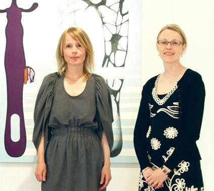 Lisbeth Eugenie Christensen og Sine Kildeberg. Foto: Vendsyssel Kunstmuseum