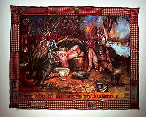 Juan Davila: 'The Arse End of the World', 1994. © Courtesy Juan Davila; Kalli Rolfe Contemporary Art