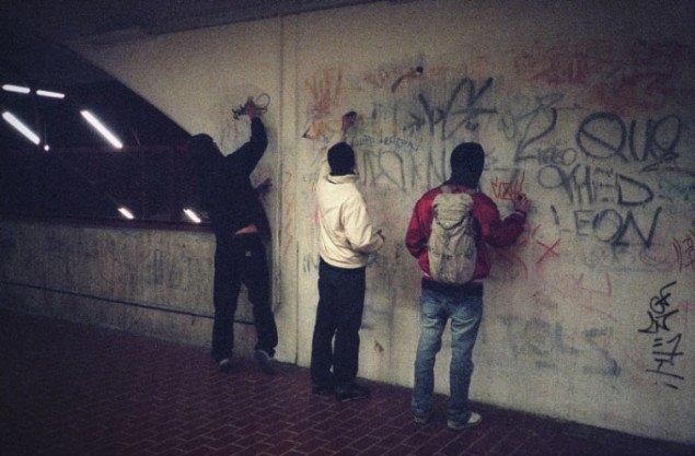 'Pura', 'Leroy' og 'Cozy' tagger på Skarpnäck station. Pressefoto