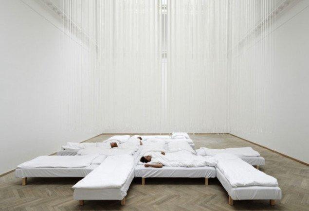 Bosch & Fjords sovesal, hvor der kan bookes en seng hver fredag. (Foto: Anders Sune Berg)