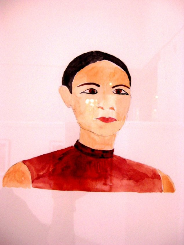 Professoren i maleri ved Det Kongelige Danske Kunstakademis værk. Anette Abrahamsson,  Portraits (uddrag), 2009. Foto: Kasper Lie.