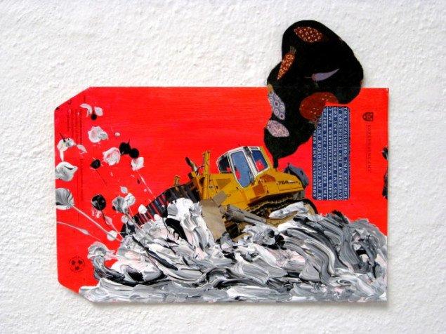 Den ikke-akademiuddannede, men udstillende kunstners værk. Mette Rishøj,  Uden titel, 2009. Foto: Kasper Lie.