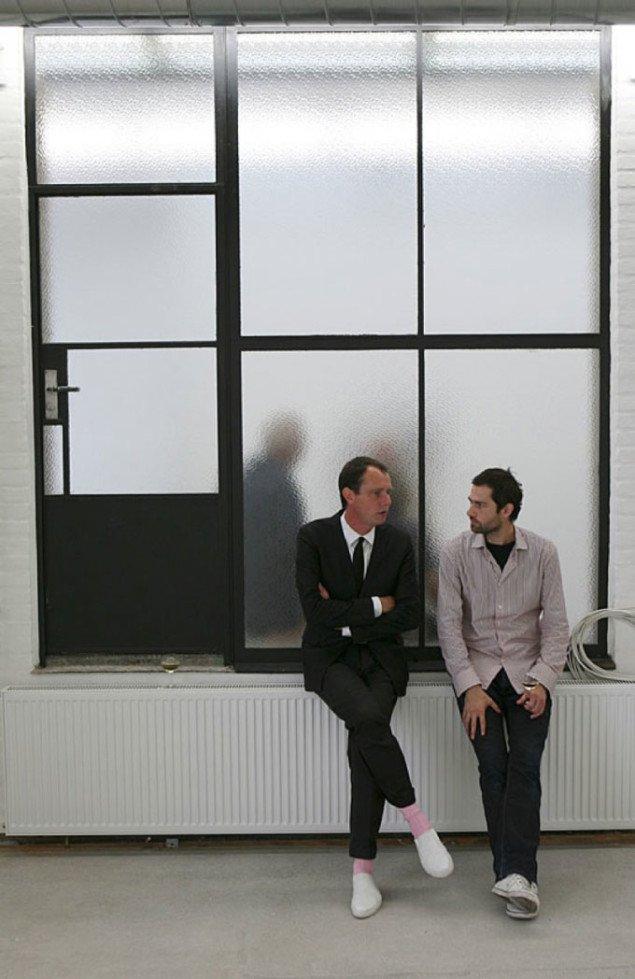 Kunstnerne Olof Olsson og Amel Ibrahimović. Foto Niels Fabæk.