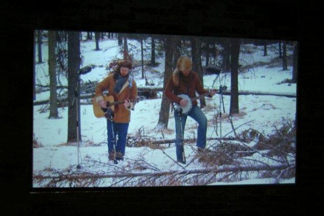 Udsnit af videoen i den islandske pavillon. Foto: Sixten Therkildsen