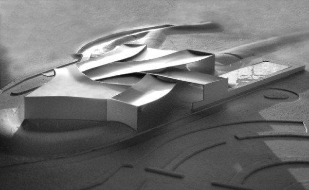 Model af Heart set fra luften, Steven Holl Architects. Pressefoto