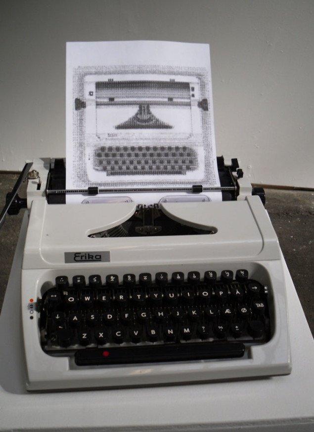 Jonas Seebergs og Jacob Nielsens McLuhans' Type Writer. Foto: Ditte Ernst.