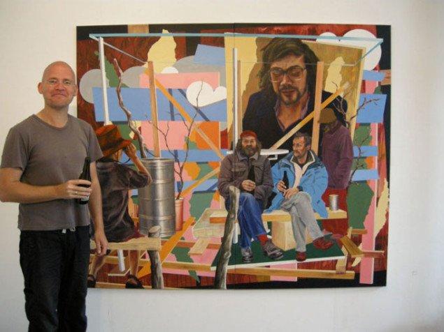 Metulczki foran sit malelri med øldrikkende bumser. (Foto: Solveig Lindeskov Andersen)
