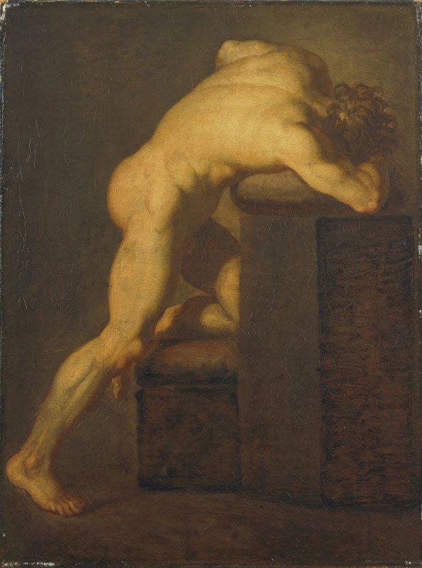 Stående modelfigur, Rom ARoS,  Aarhus Kunstmuseum 1772-77 Olie på lærred 68.1 x 51.7 cm. Foto: SMK.