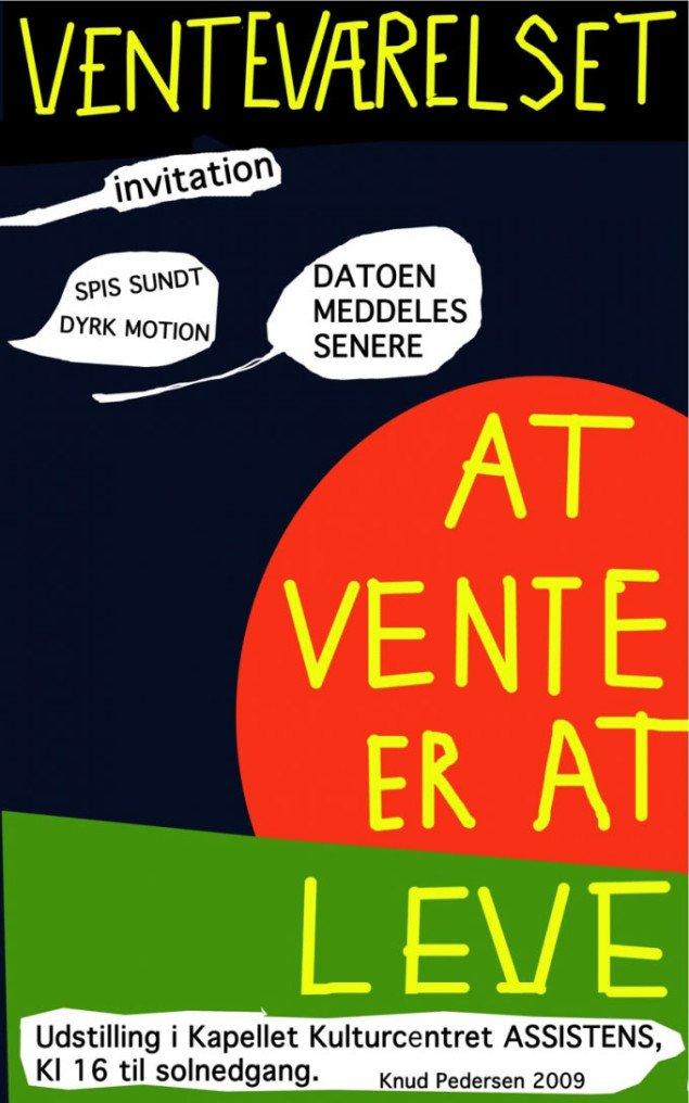 Plakat til Knud Pedersens: Venteværelset