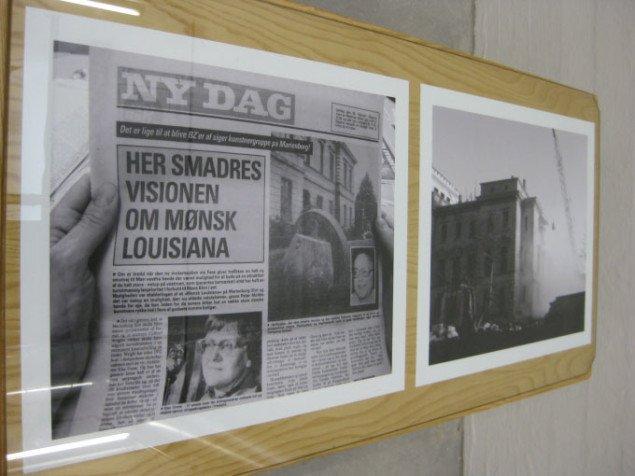 Fotografisk dokumentation af avisartikler om Marienborg. Bettina Camilla Vestergaard, Marienborg 1972-2009, 2009. Foto: Kasper Lie.